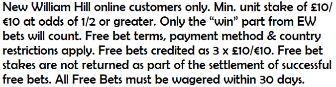 william hill main offer compliant text