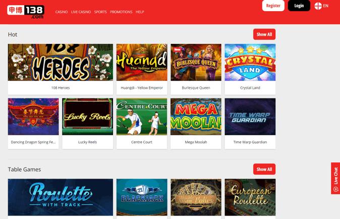 138-casino-screenshot
