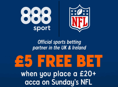 888 NFL acca free bet
