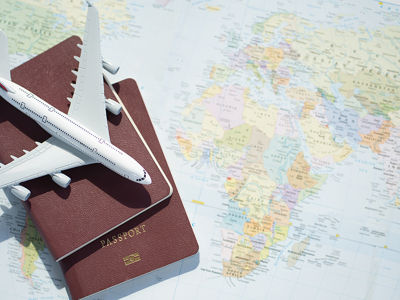 Passports and Map of the World