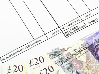 affordability check pay slip and cash
