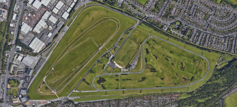 Aintree racecourse view from above