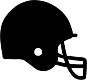 silhouette of American football helmet