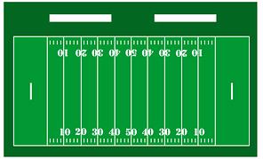 amerian football pitch layout