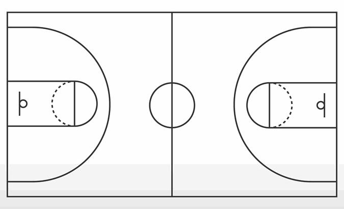 basketball court outline