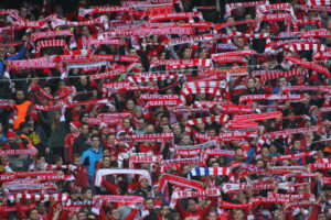 bayern munich fans with scarves