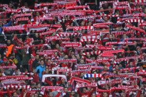 bayern munich fans with scarves