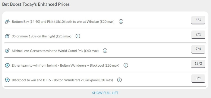 BetVictor Bet Boosts
