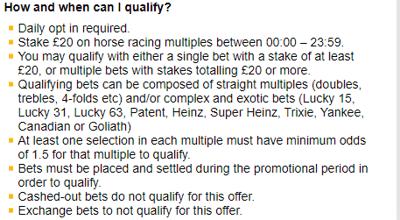 betfair horse racing multiples free bet