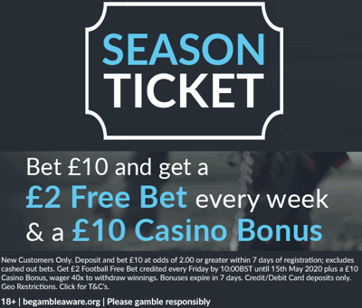 Premier League 2020 New Season Betting Offers & Free Bets