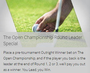 betway golf round leader special the open championship