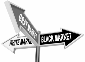 black white grey market signpost
