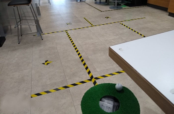 Bookie Shop Floor Markings