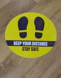 Bookie Shop Social Distance Sign