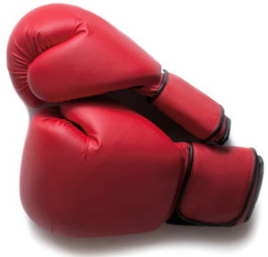 boxing gloves red pair