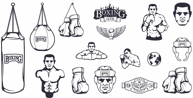 boxing various icons
