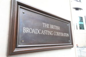 british broadcasting corporation sign