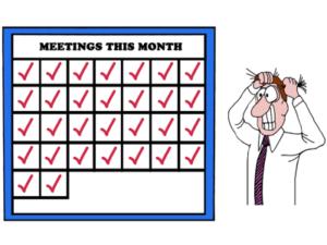 calendar full of meetings