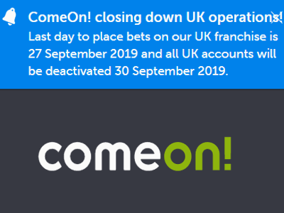 comeon closed to uk