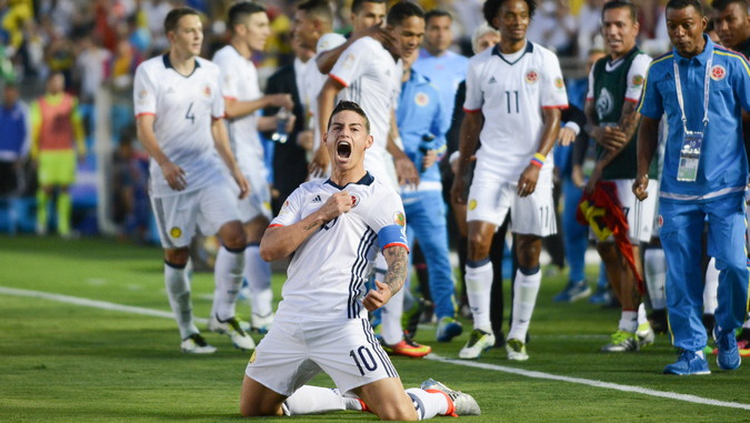copa america james rodriguez celebrates a goal