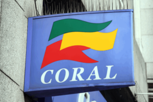 coral sign on one of their high steet betting shops