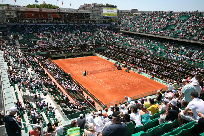 court philippe chatrier at the French Open