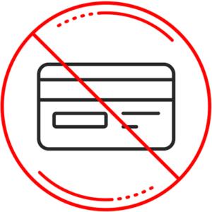 credit card ban symbol