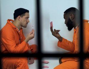 criminals gambling in jail