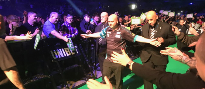 darts premier league rob cross walking onto stage