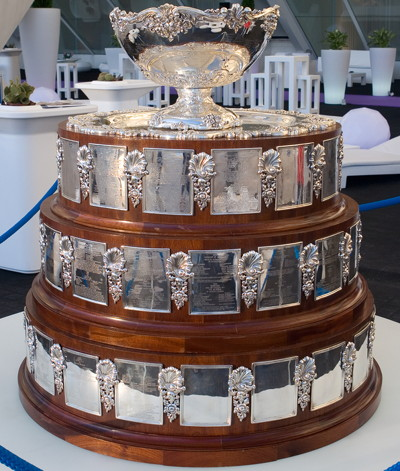 davis cup throphy on display