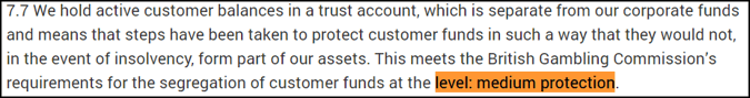 deposit level protection terms and conditions example