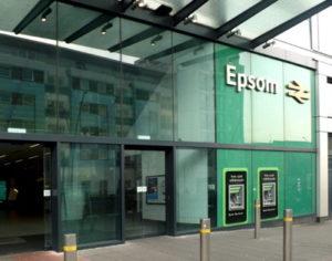 epsom railway station sign