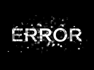 error glitch