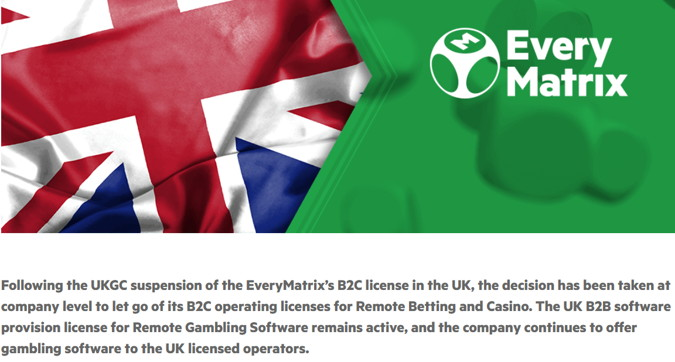 evermatrix withdraw from uk white label market