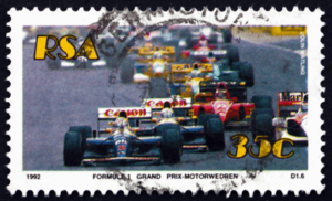 f1 old stamp from 1992 race