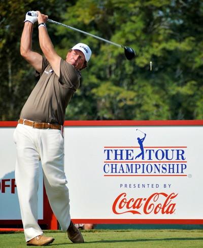 fedex cup tour championship tee shot at east lake golf club in atlanta georgia