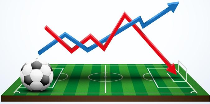football graph increase decrease