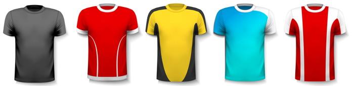 5 football shirts
