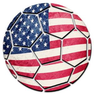 football with usa flag