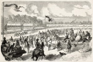 french horse racing old image