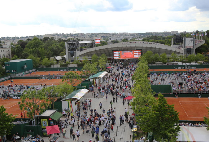 french open roland garros view of outside courts
