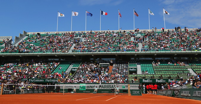 french open view of the stands from court
