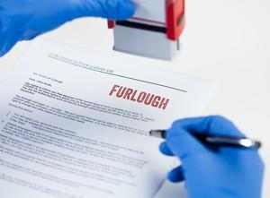 furlough letter stamped