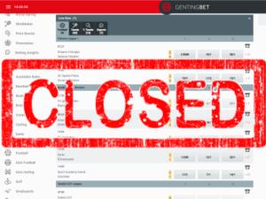 gentingbet closed