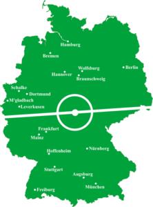 german football map