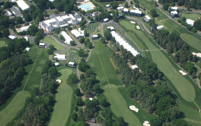 golf pga event aerial view