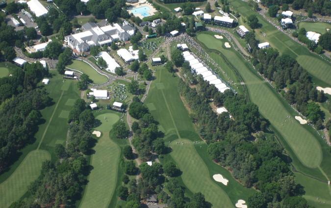 golf pga event aerial view