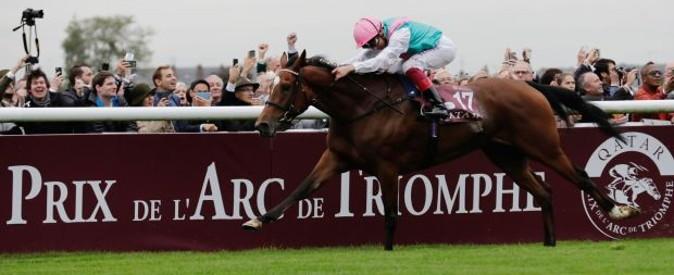 horse racing in the prix de l'arc de triomphe