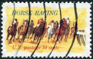 horse racing old us postage stamp