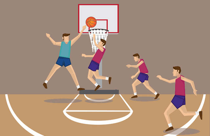 how to play basketball cartoon